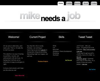 Mike Needs A Job